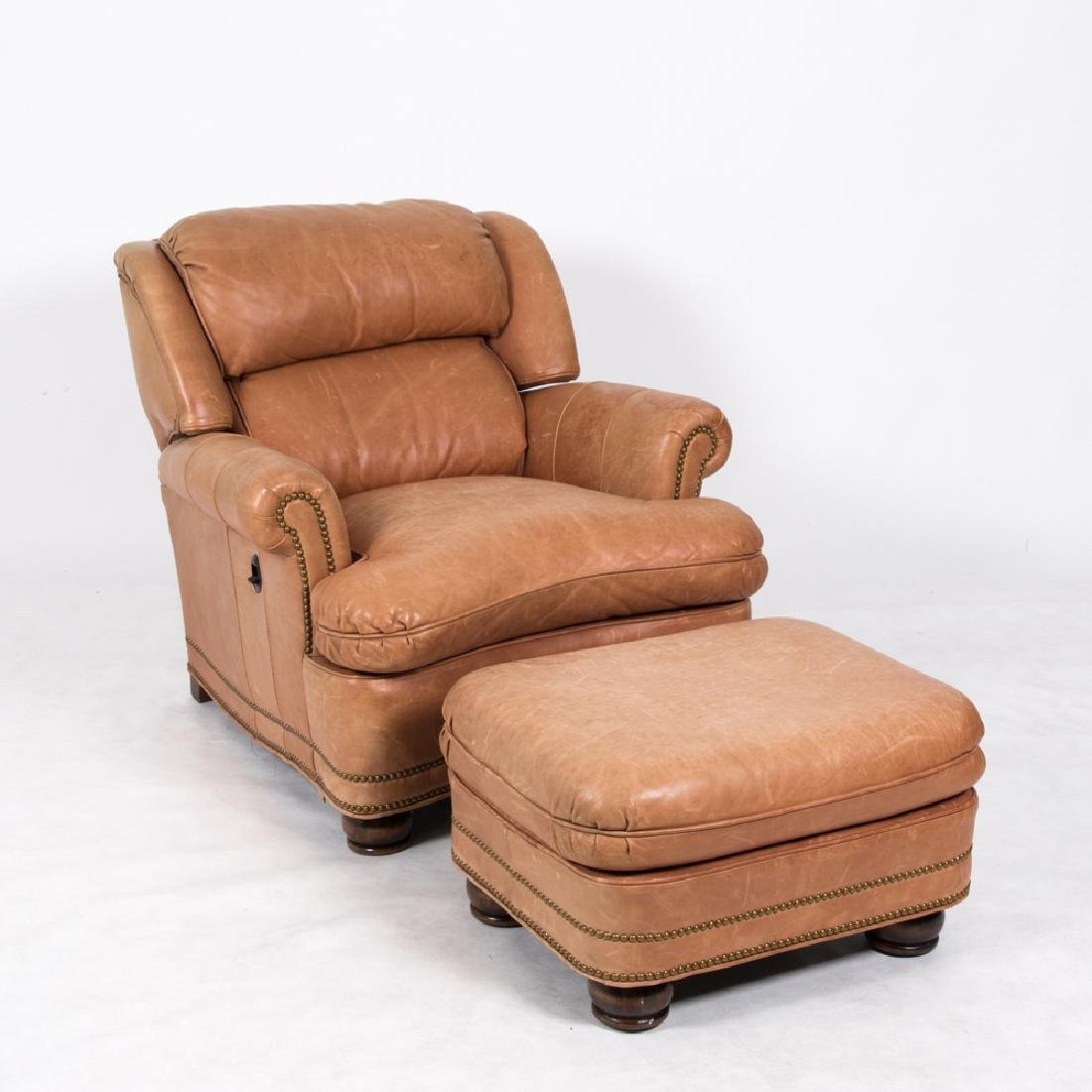 A Hancock and Moore Leather Upholstered Reclining