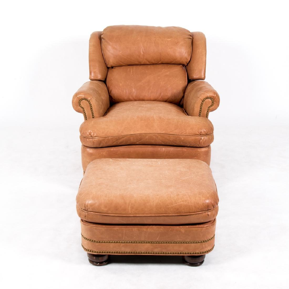 A Hancock and Moore Leather Upholstered Reclining - 2