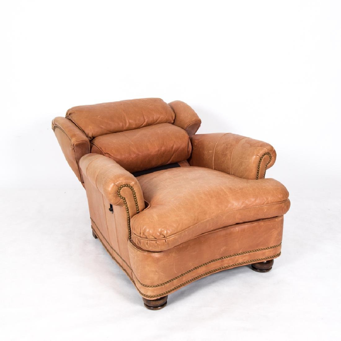 A Hancock and Moore Leather Upholstered Reclining - 5