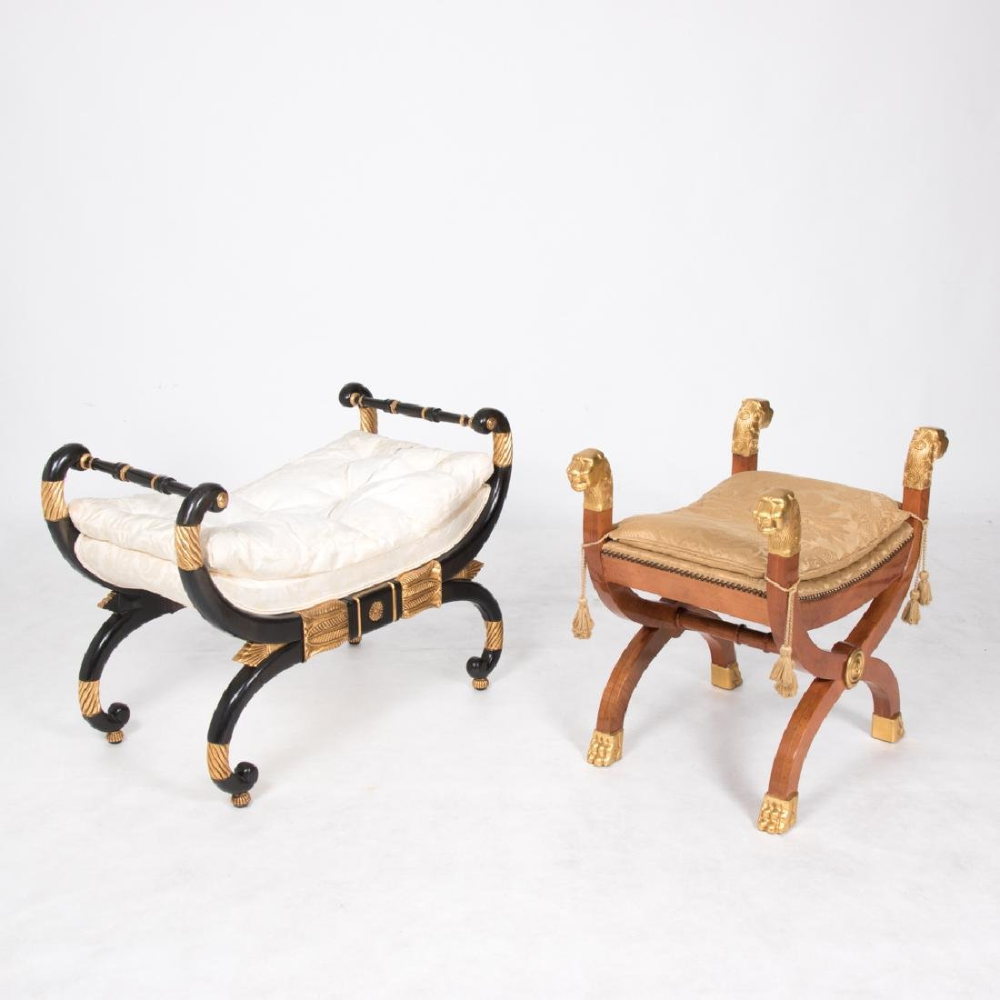 Two Baker Furniture Thomas Hope Style Painted and