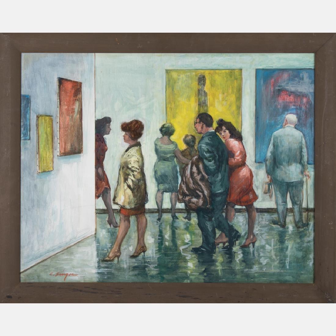 Clyde J. Singer (1908-1999) Art Exhibit,  January 1963,