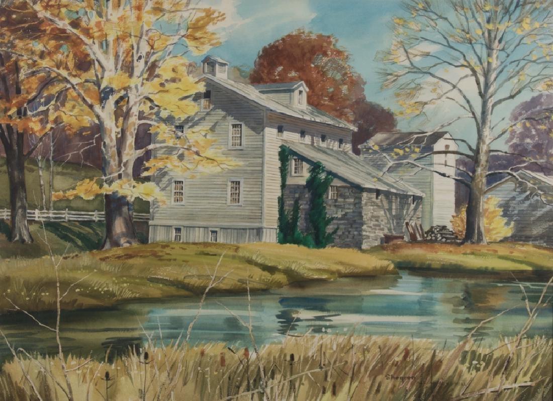 Kinley T. Shogren (1924-1991) Alexander's Mill,