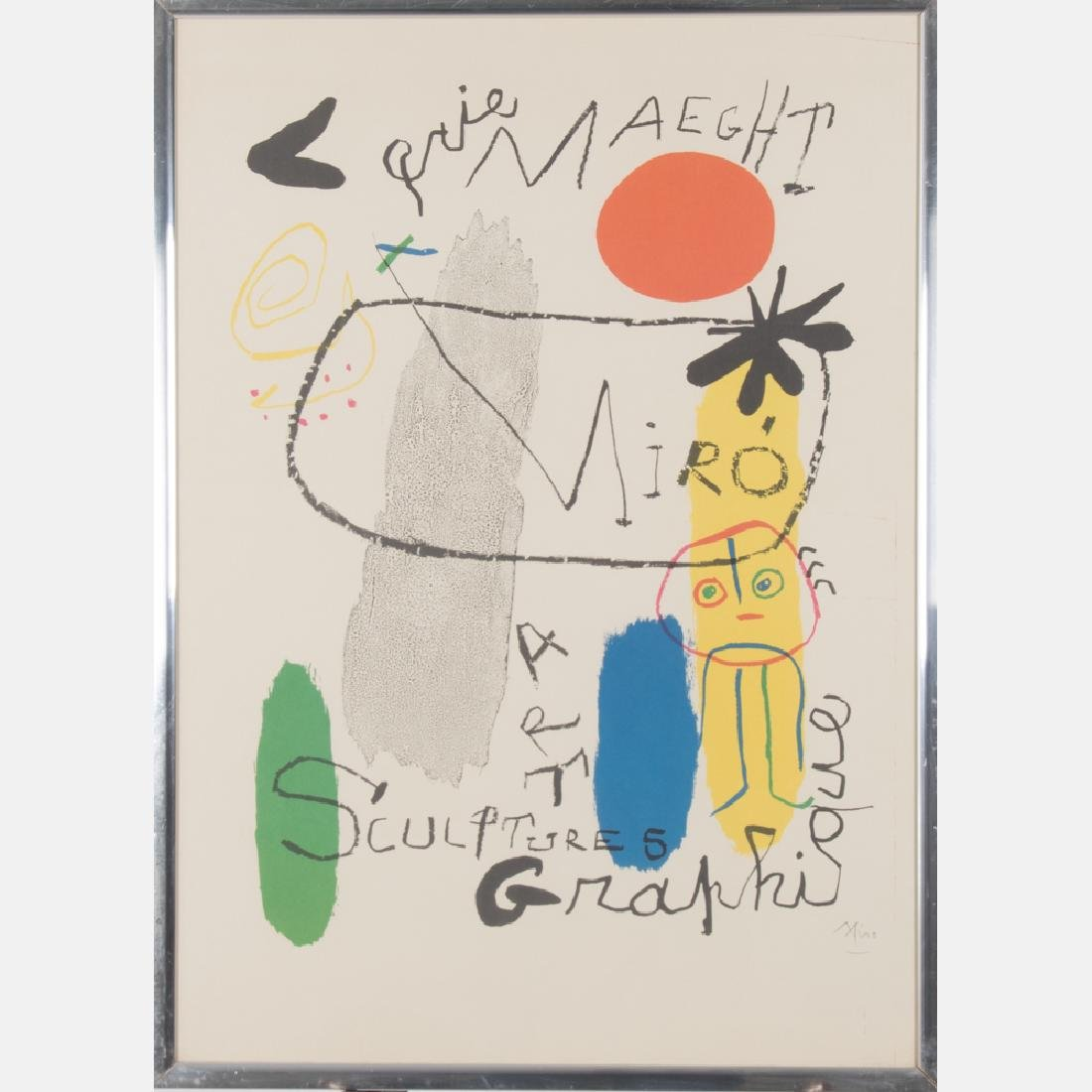Joan Miro (1893-1983) Sculpture et Art Graphique at