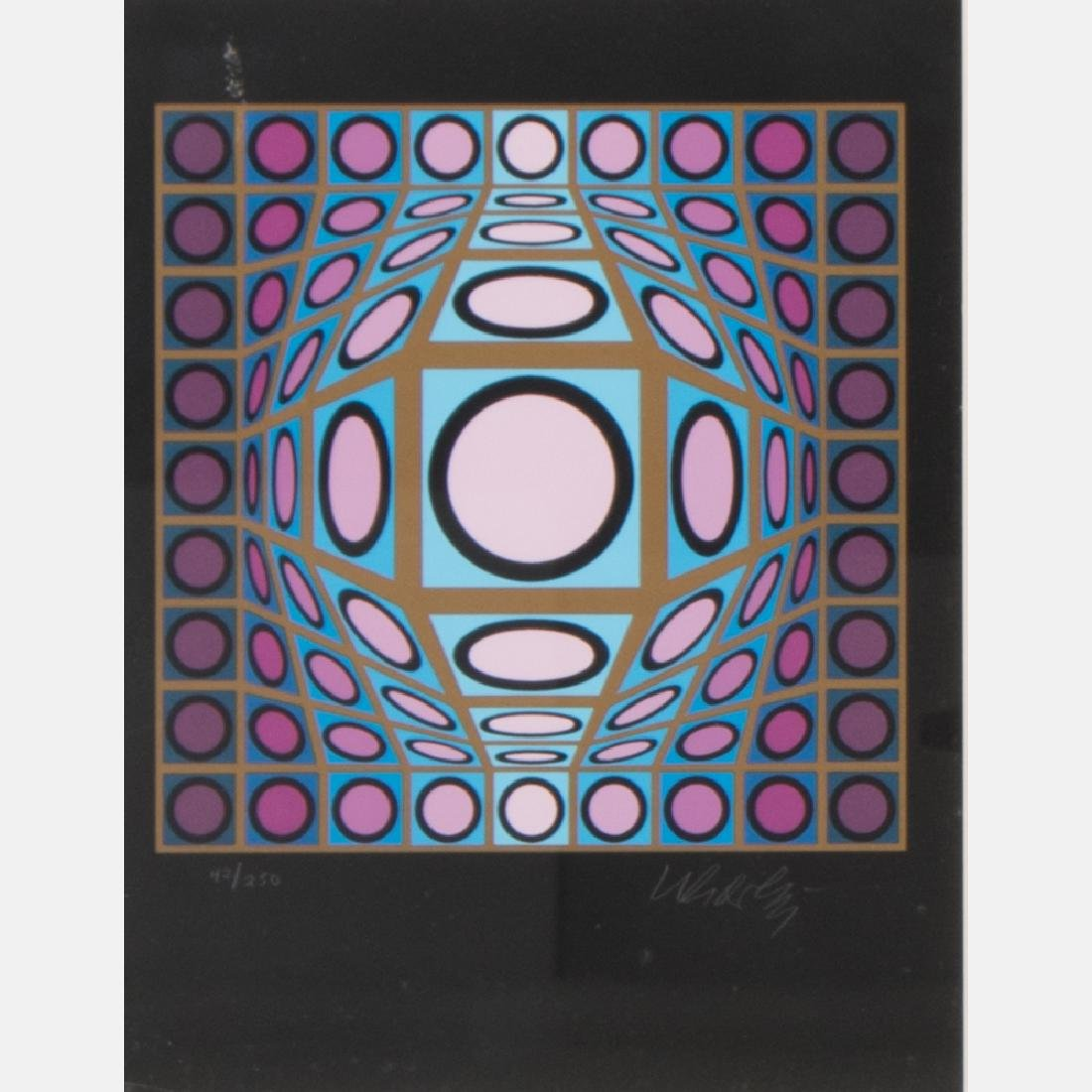 Victor Vasarely (1906-1997) Abstract #1 (Gyem),