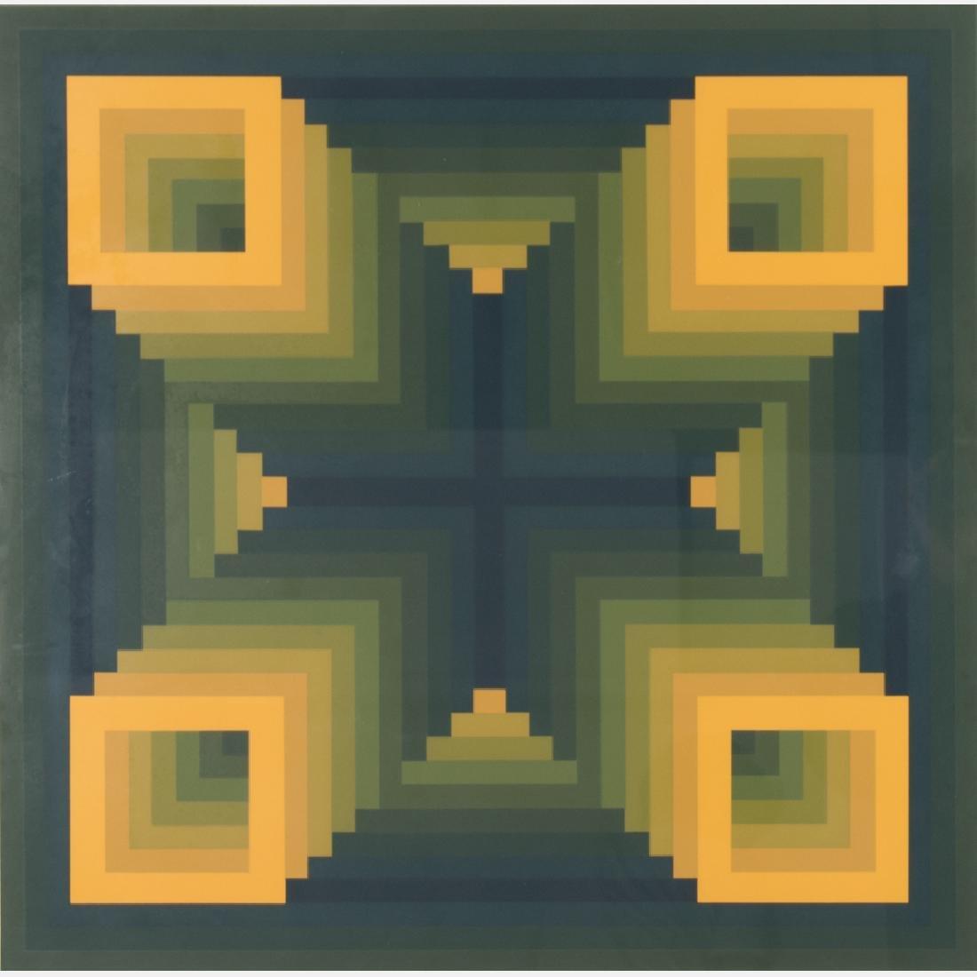 Russell Dunbar (b. 1927) Untitled, Silkscreen,