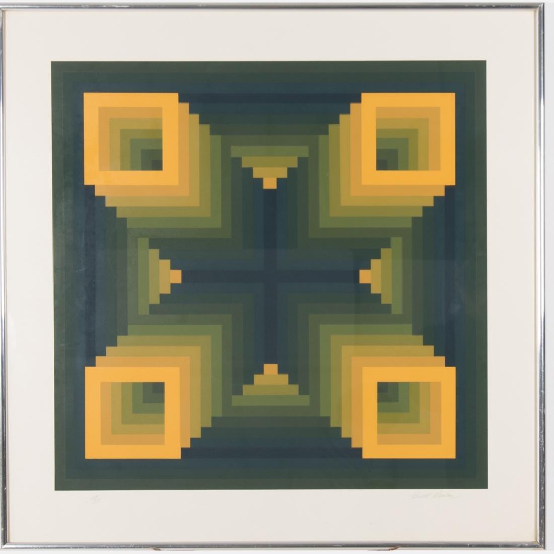 Russell Dunbar (b. 1927) Untitled, Silkscreen, - 2