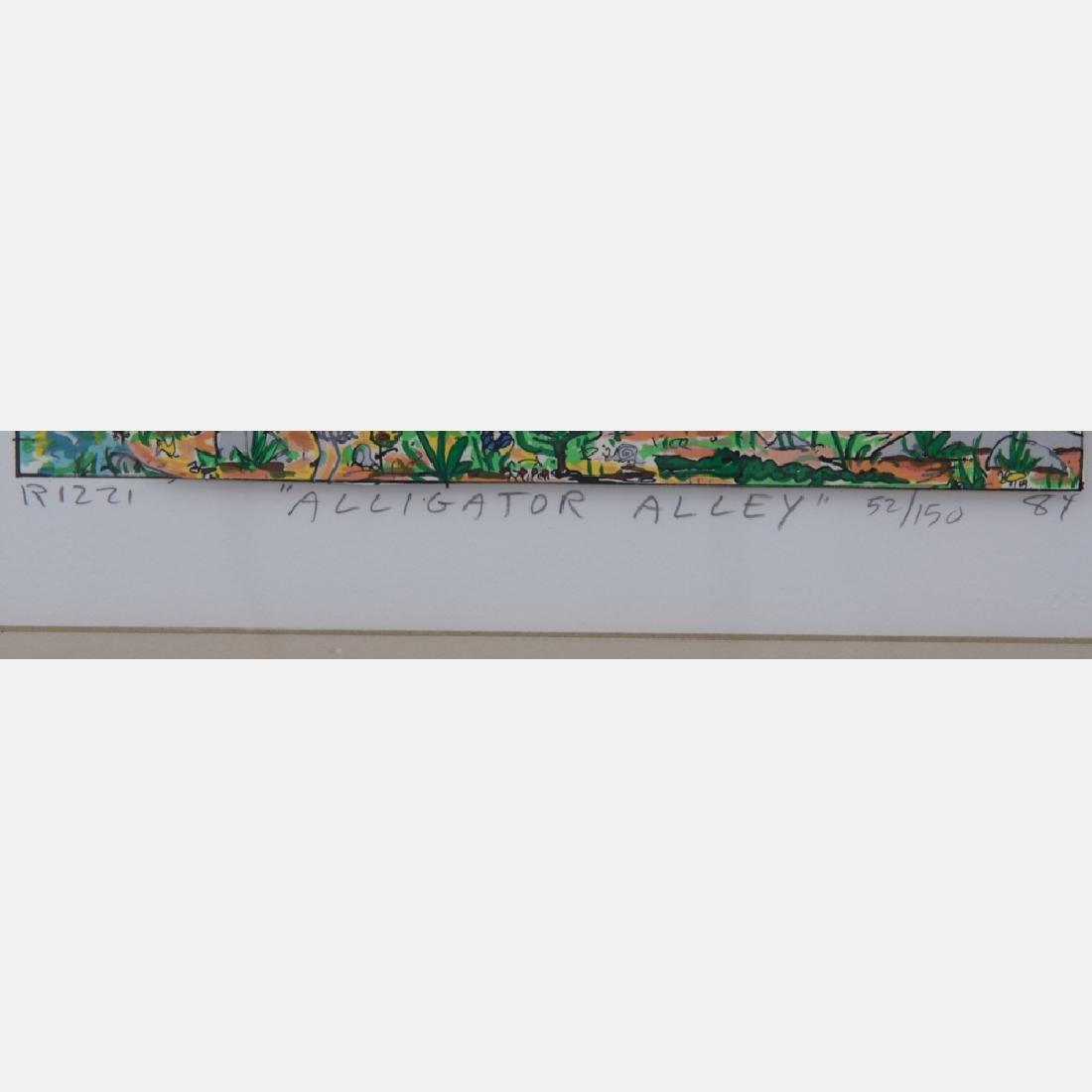 James Rizzi (1950-2011) Alligator Alley, 3D serigraph, - 3