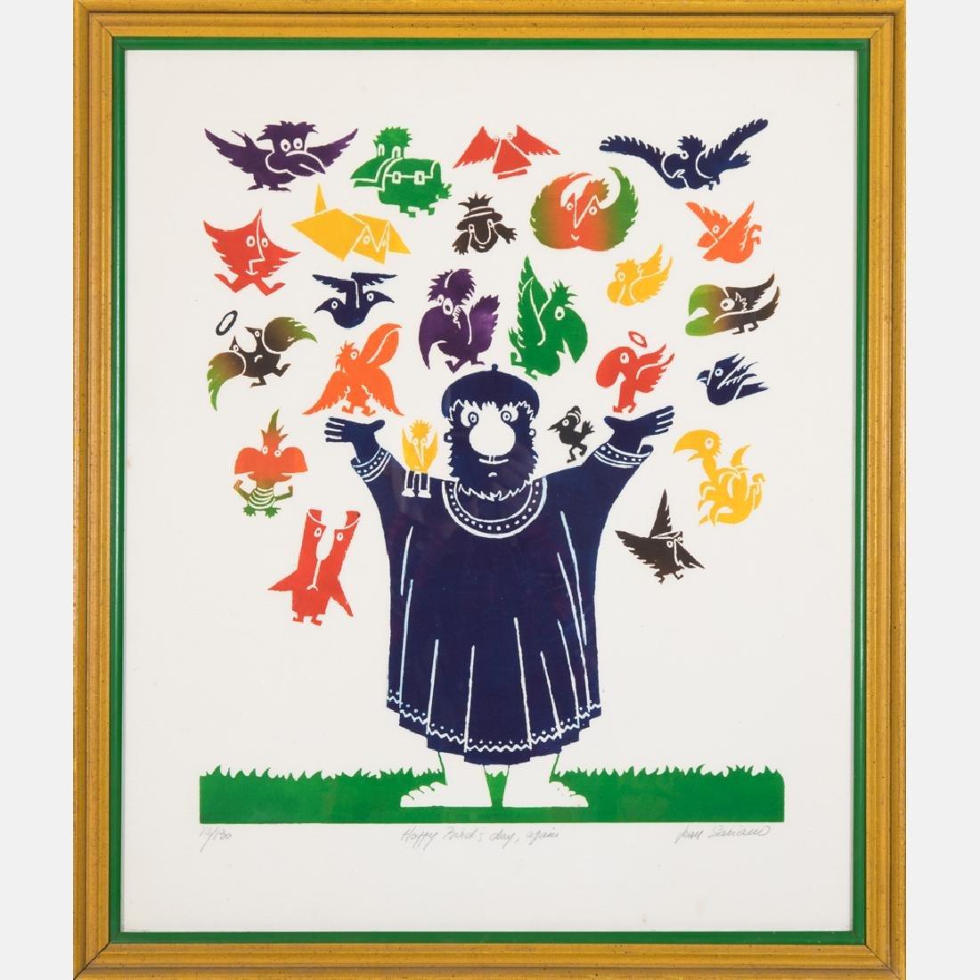 Jean Sariano (b. 1943) Happy Bird's Day Again, Intaglio