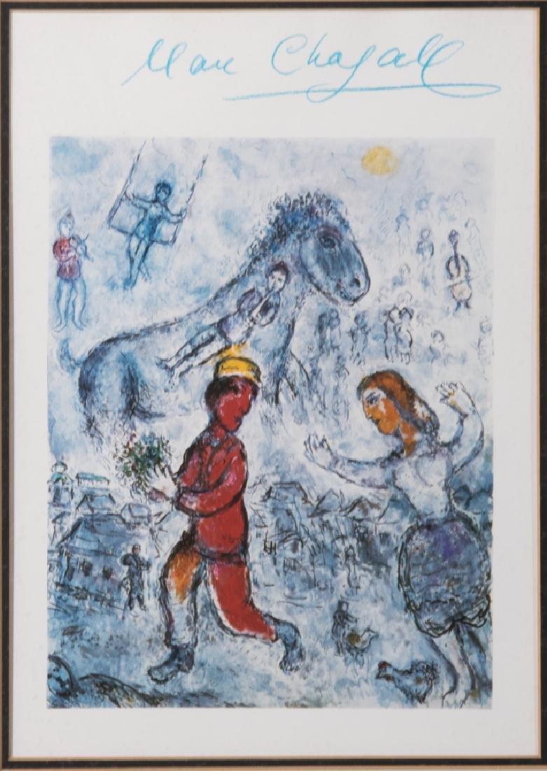 Marc Chagall (1887-1985) L'Homme Rouge a la Casquette,