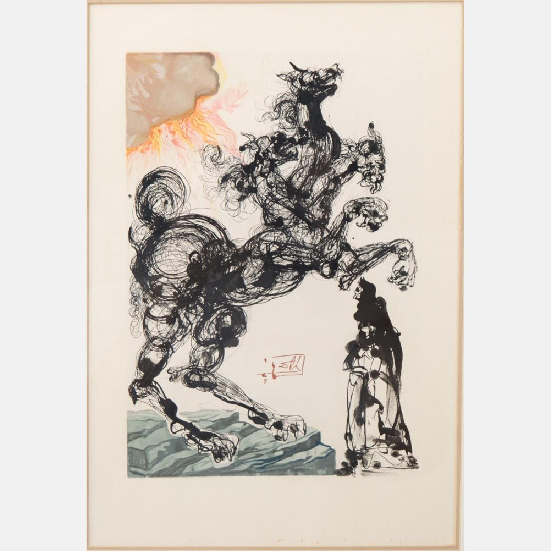 Salvador Dali (1904-1989) Cerberus/Inferno 6 (From the
