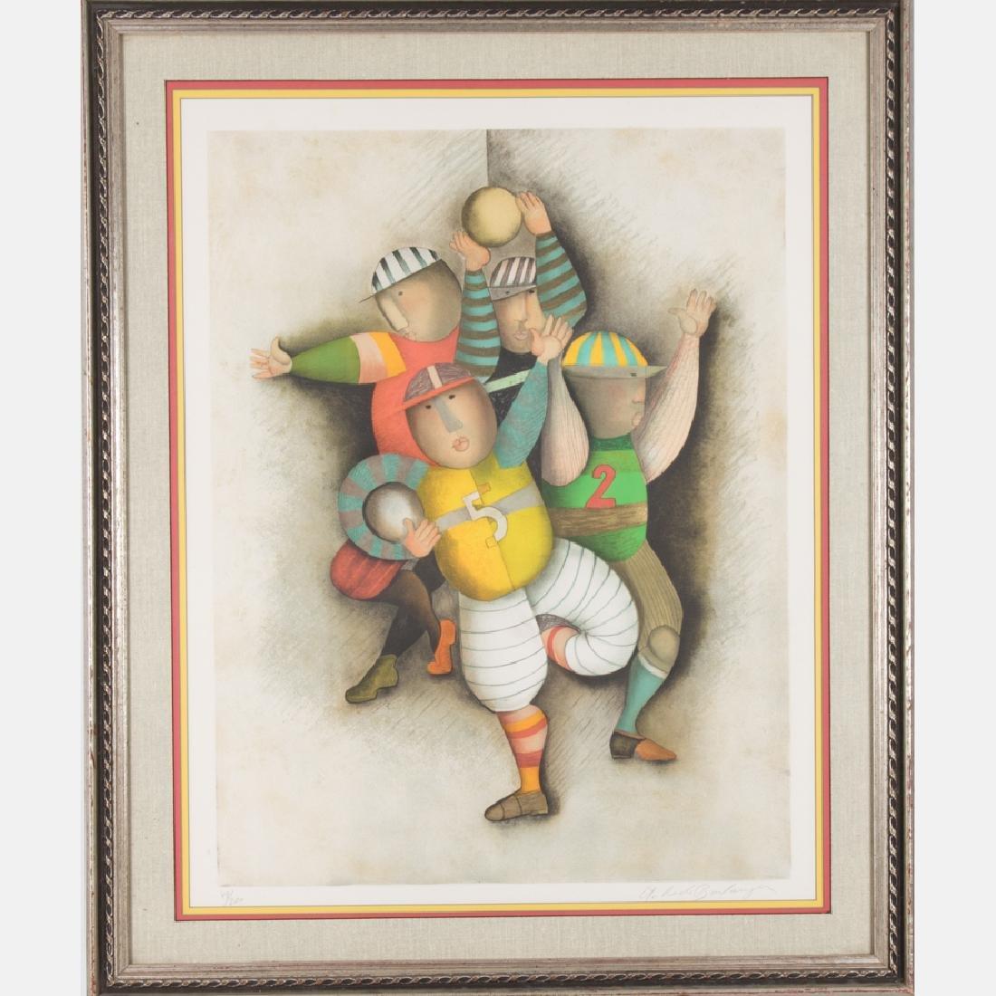 Graciela Rodo Boulanger (b. 1935) Football, Lithograph,