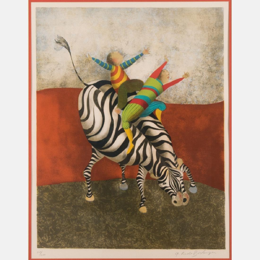 Graciela Rodo Boulanger (b. 1935) Children Riding a