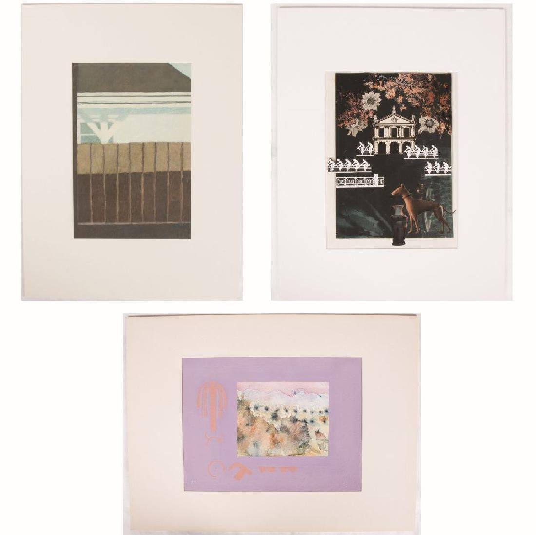A Group of Three Contemporary Artworks by Various