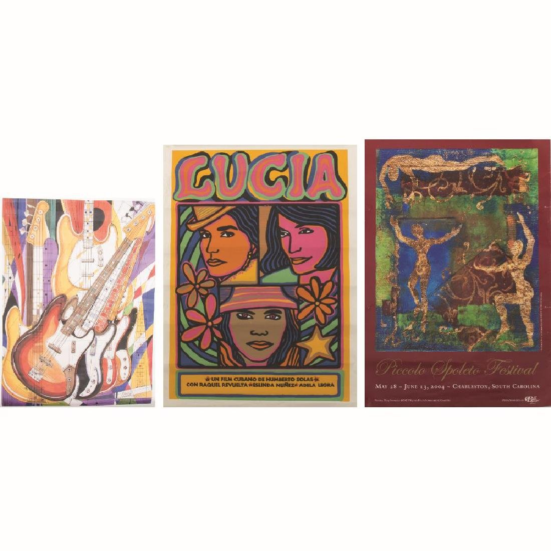A Group of Three Lithographic Exhibition Posters by