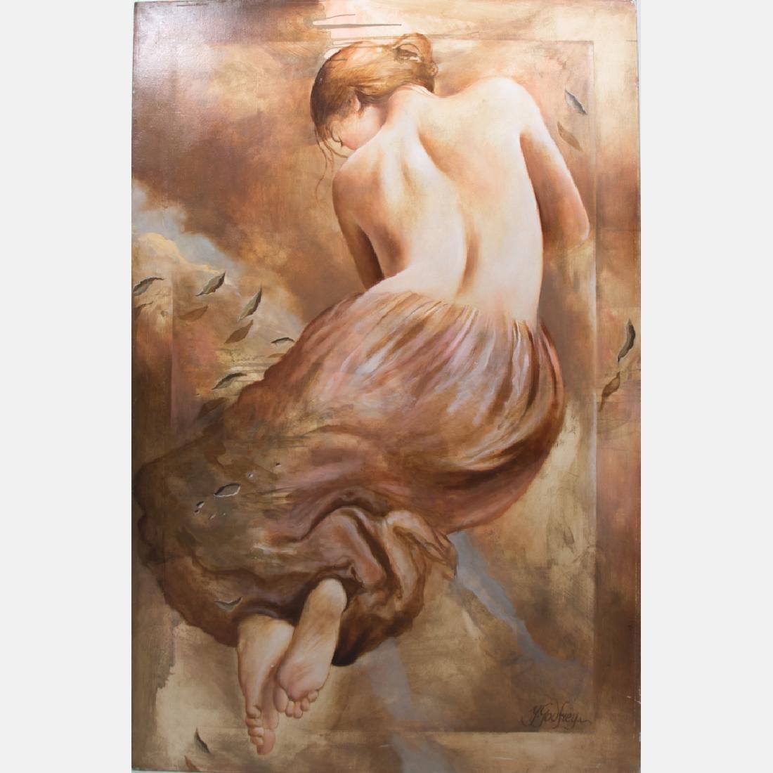 Yarek Godfrey (b. 1957) Female Nude, Oil on canvas.
