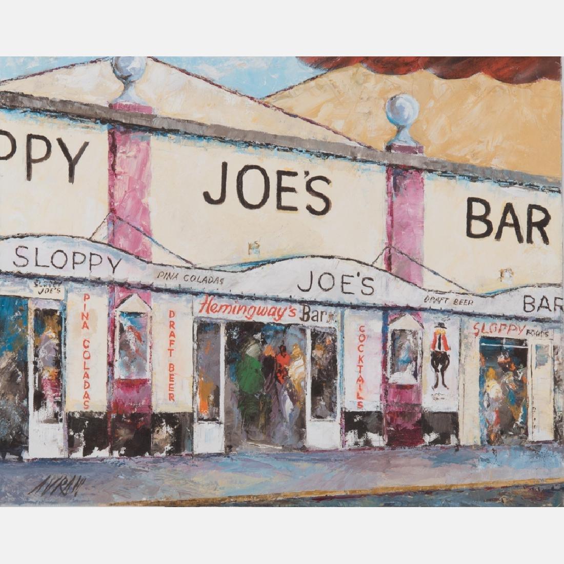 Avram (20th Century) Sloppy Joe's Bar, Oil on canvas,