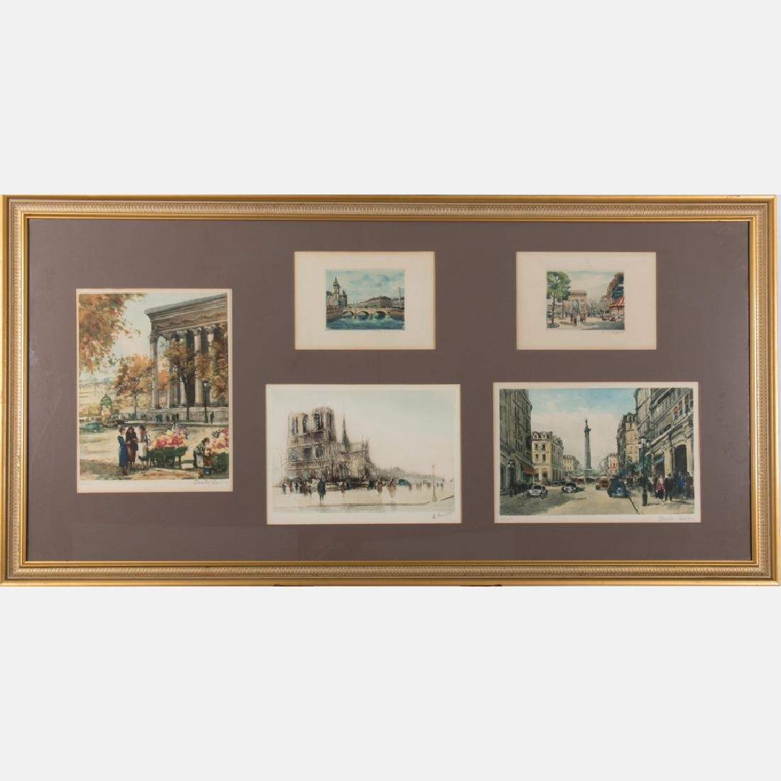 A Group of Engravings Depicting Historic Scenes by