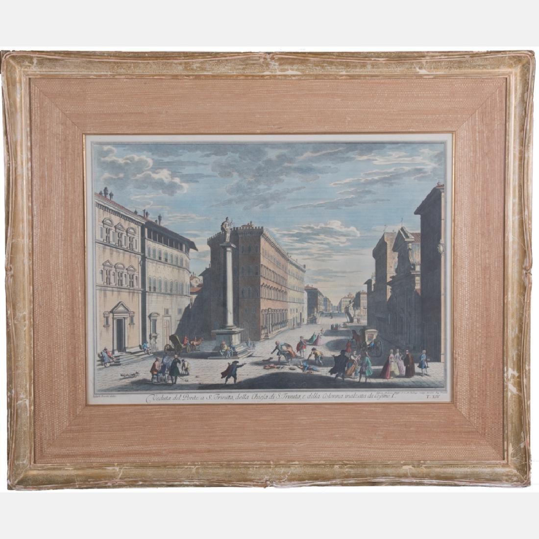 After Giuseppe Zocchi (1711-1767) Veduta del Ponte a