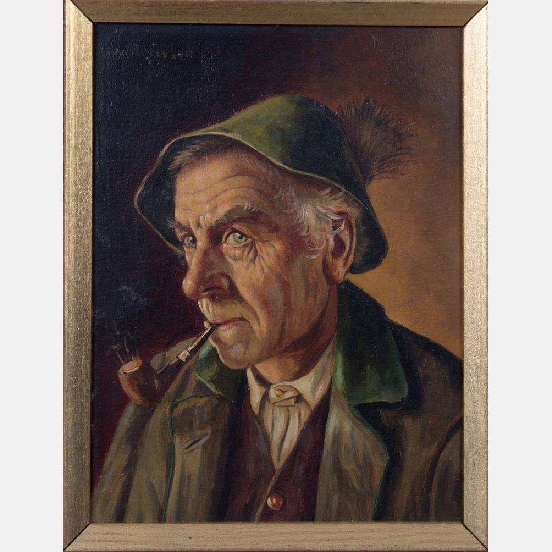 Walter Roessler (1893-1960) Portrait of a Man with
