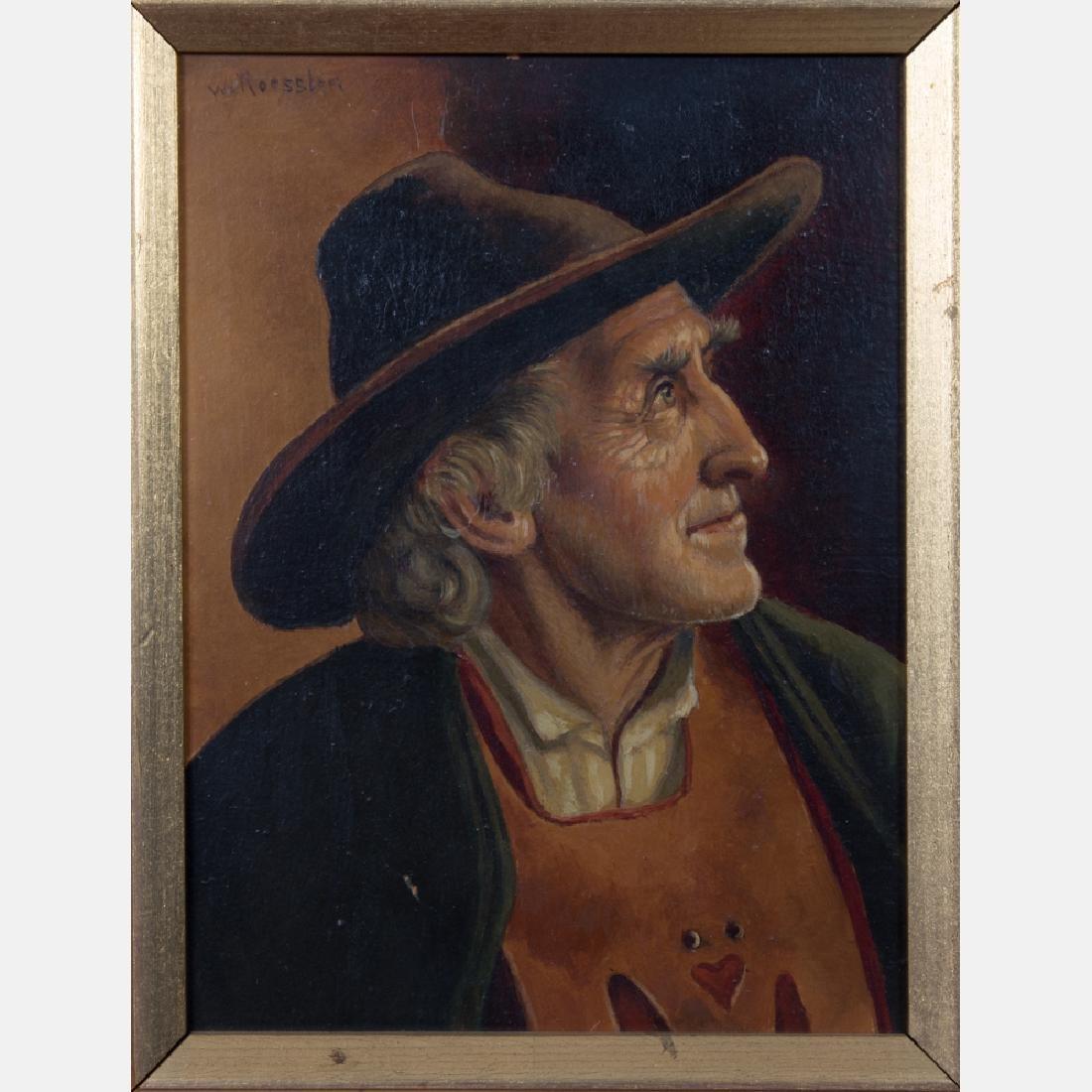 Walter Roessler (1893-1960) Portrait of a Man, Oil on