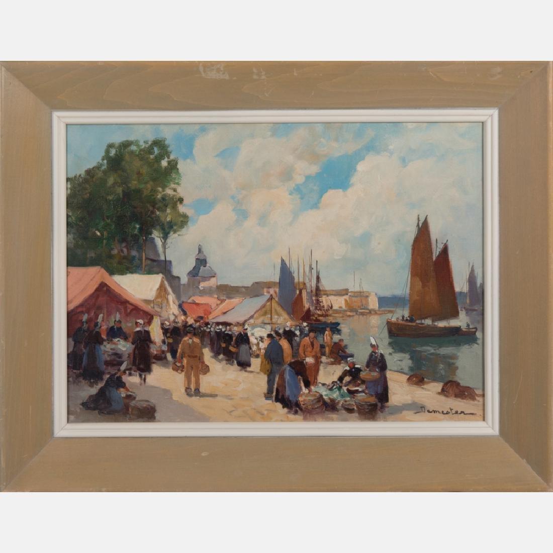 Eugene Demester (b. 1914) Market Scene, Oil on canvas, - 2