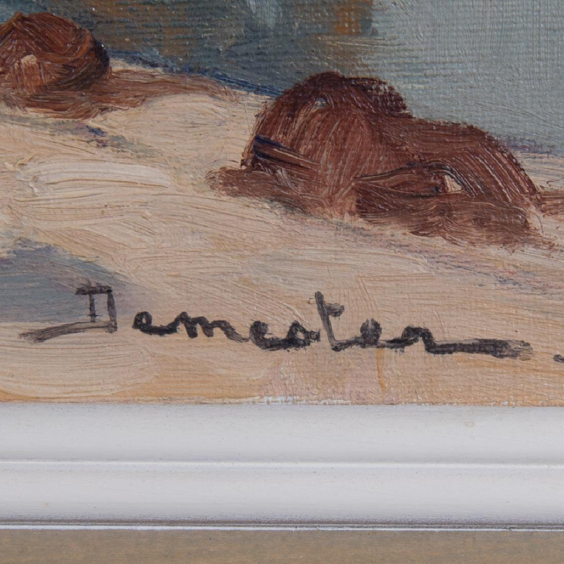 Eugene Demester (b. 1914) Market Scene, Oil on canvas, - 3