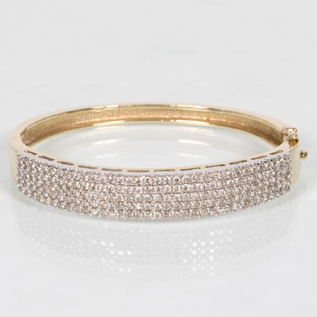 An 18kt. Yellow and White Gold, Diamond Cuff Bracelet,