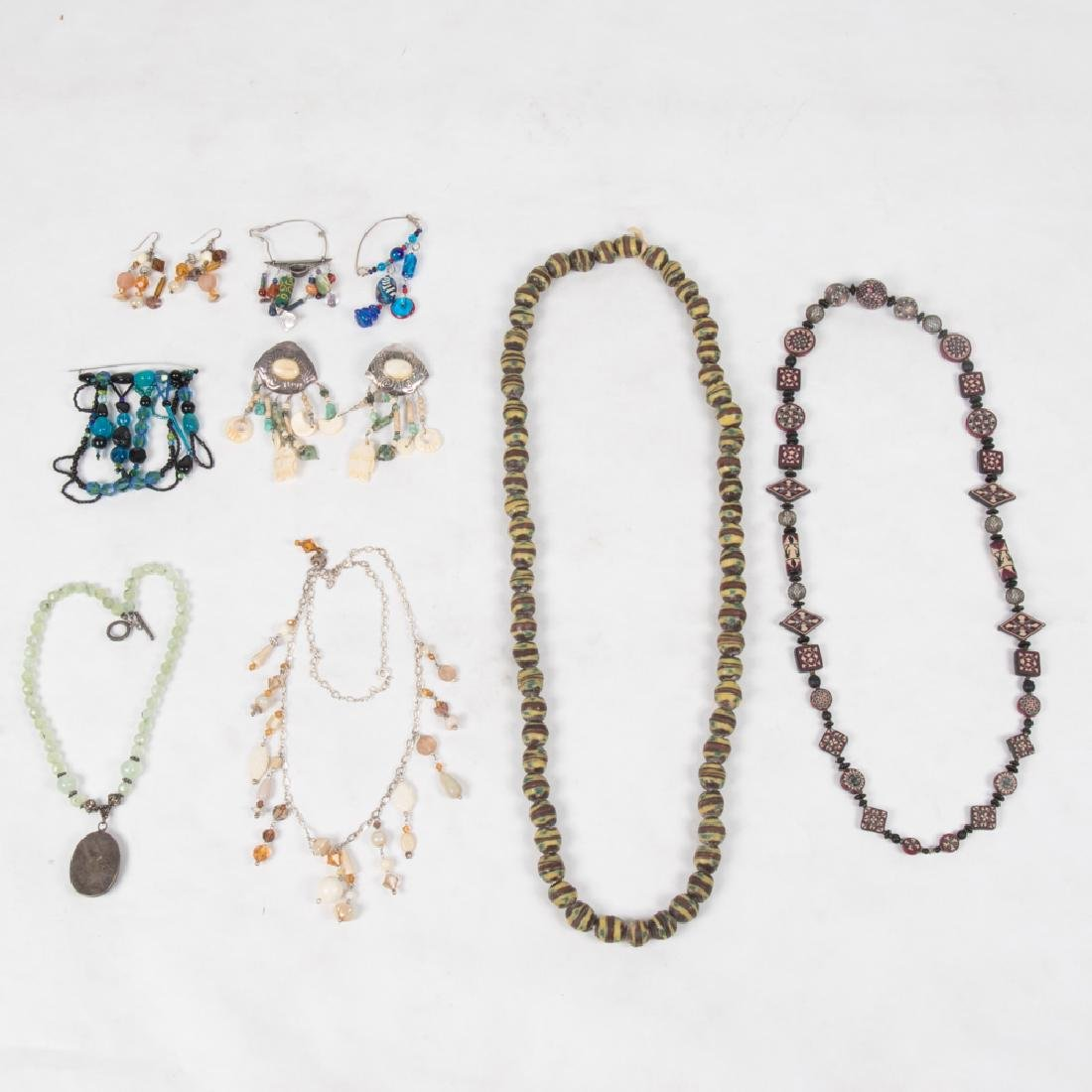 A Collection of Beaded Costume Jewelry.