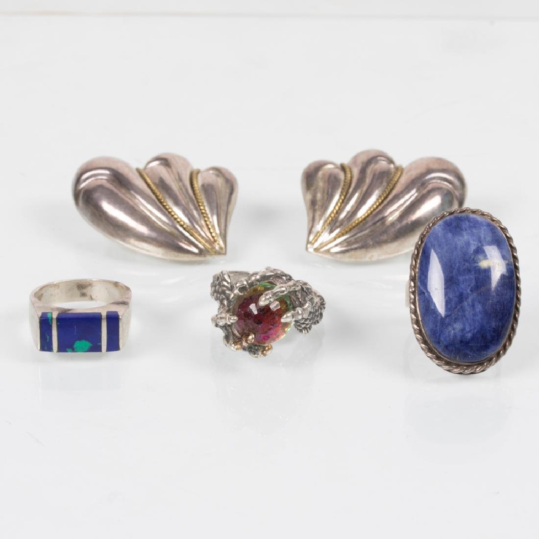 A Collection of Silver and Sterling Silver Jewelry,