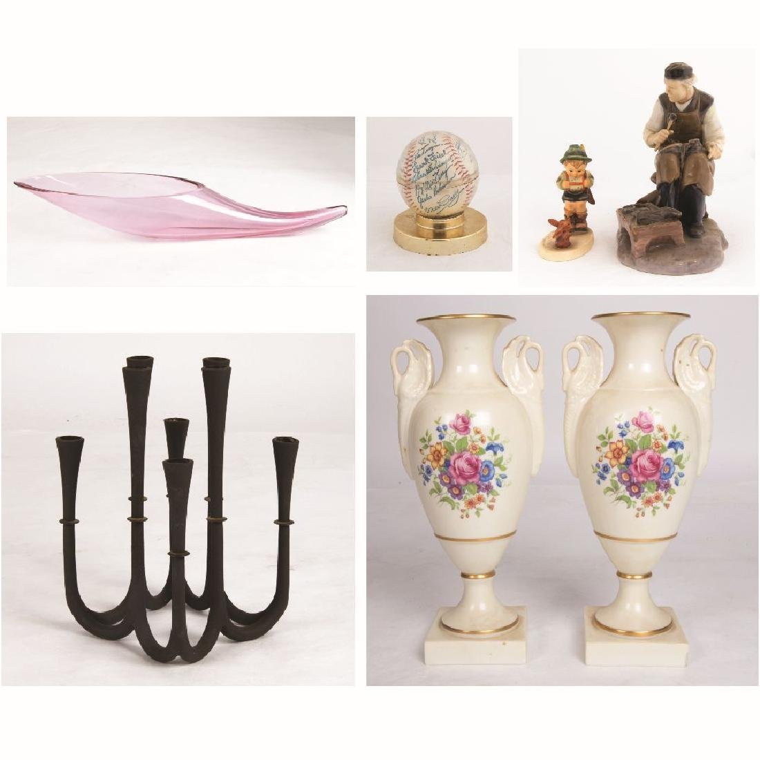 A Miscellaneous Collection of Metal, Porcelain and