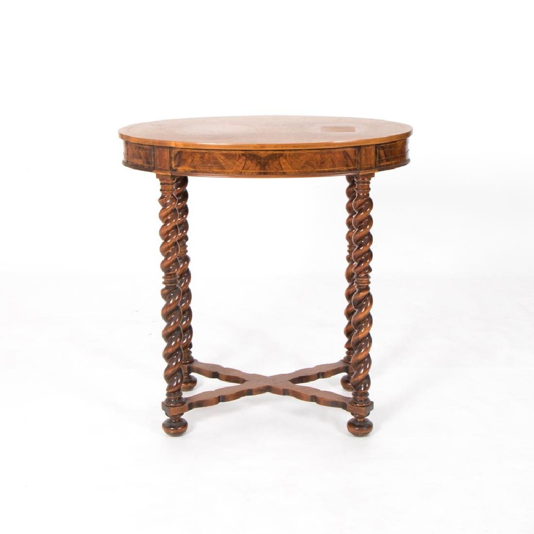 A Georgian Style Mahogany Oval Side Table, 19th