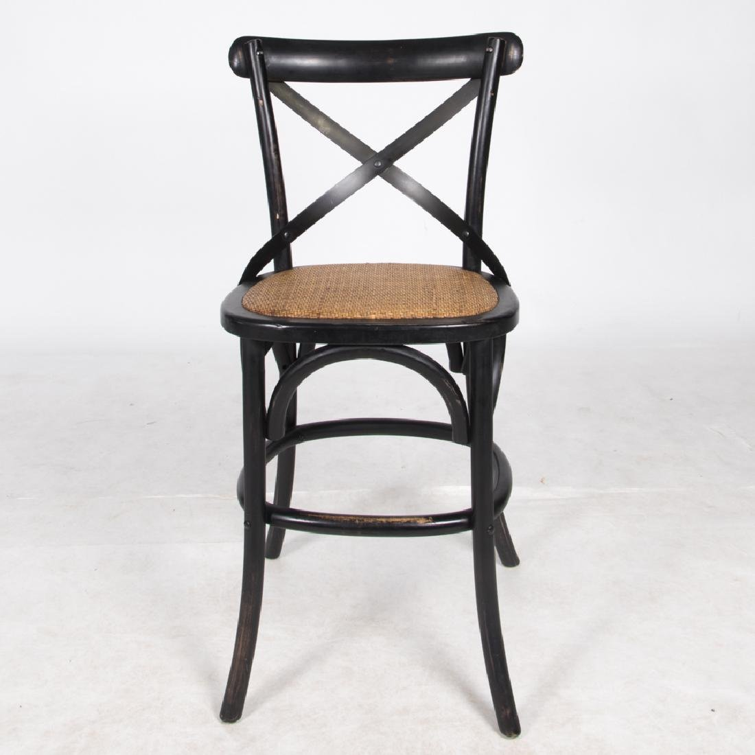 A Group of Four Thonet Style Painted Bentwood and Metal - 2