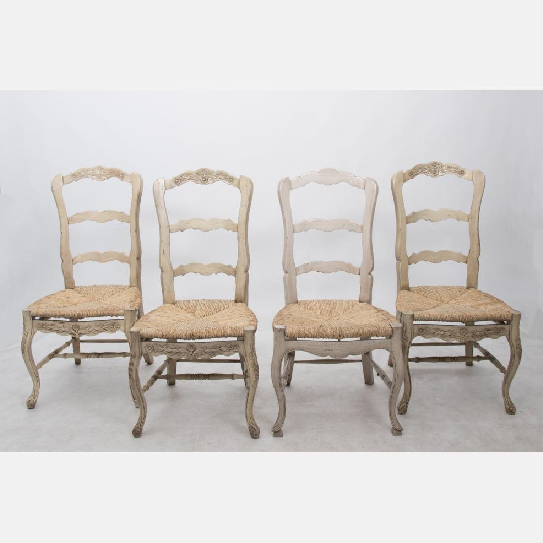 A Group of Four French Provincial Style Painted
