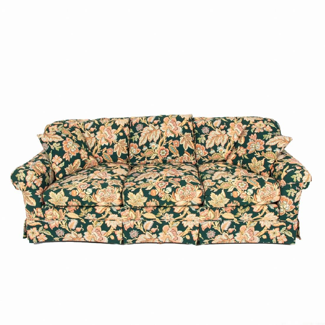 A Contemporary Floral Upholstered Sofa, 20th Century.