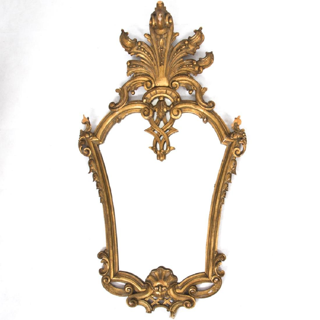 A Rococo Style Carved Gilt Framed Mirror, 20th Century.