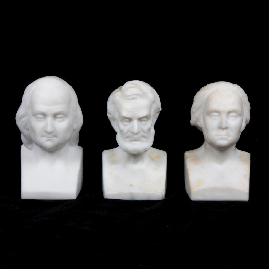 Two Gillinders and Sons Opaline Glass Busts of George