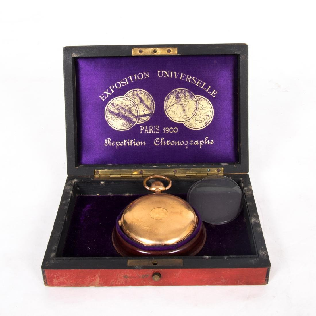 An 18kt. Yellow Gold Repeating Chronograph Pocket Watch