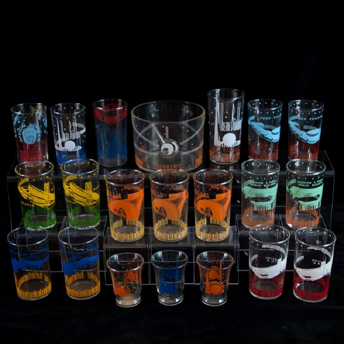 A Miscellaneous Collection of Twenty-One Clear Glass