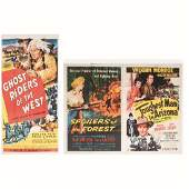 A Group of Three Vintage Lithographic Movie Posters,