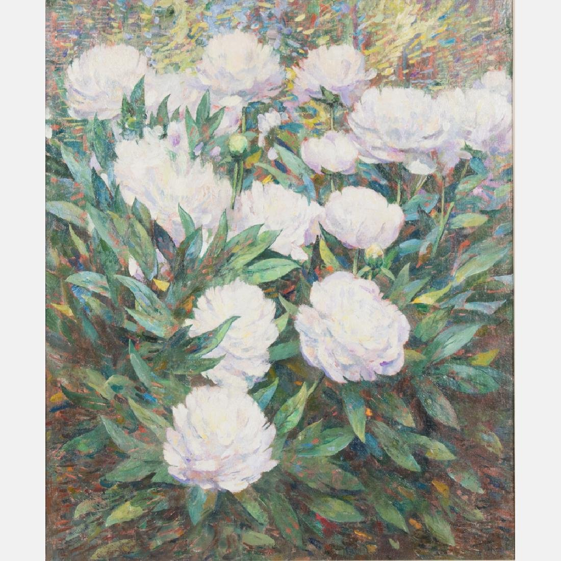 Dines Carlsen (1901-1966) Peonies, Oil on canvas,