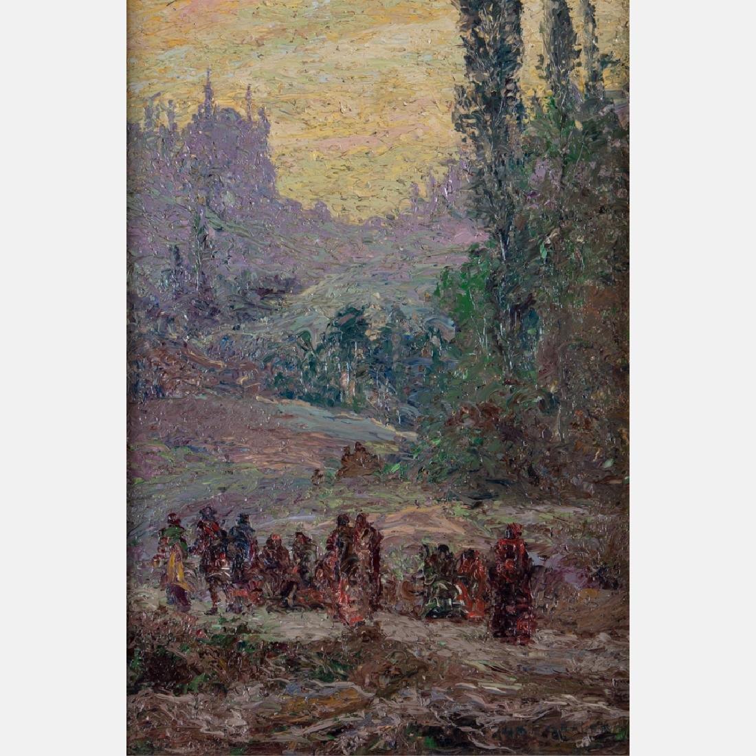 William C. Grauer (1896-1985) Figures in a Landscape,