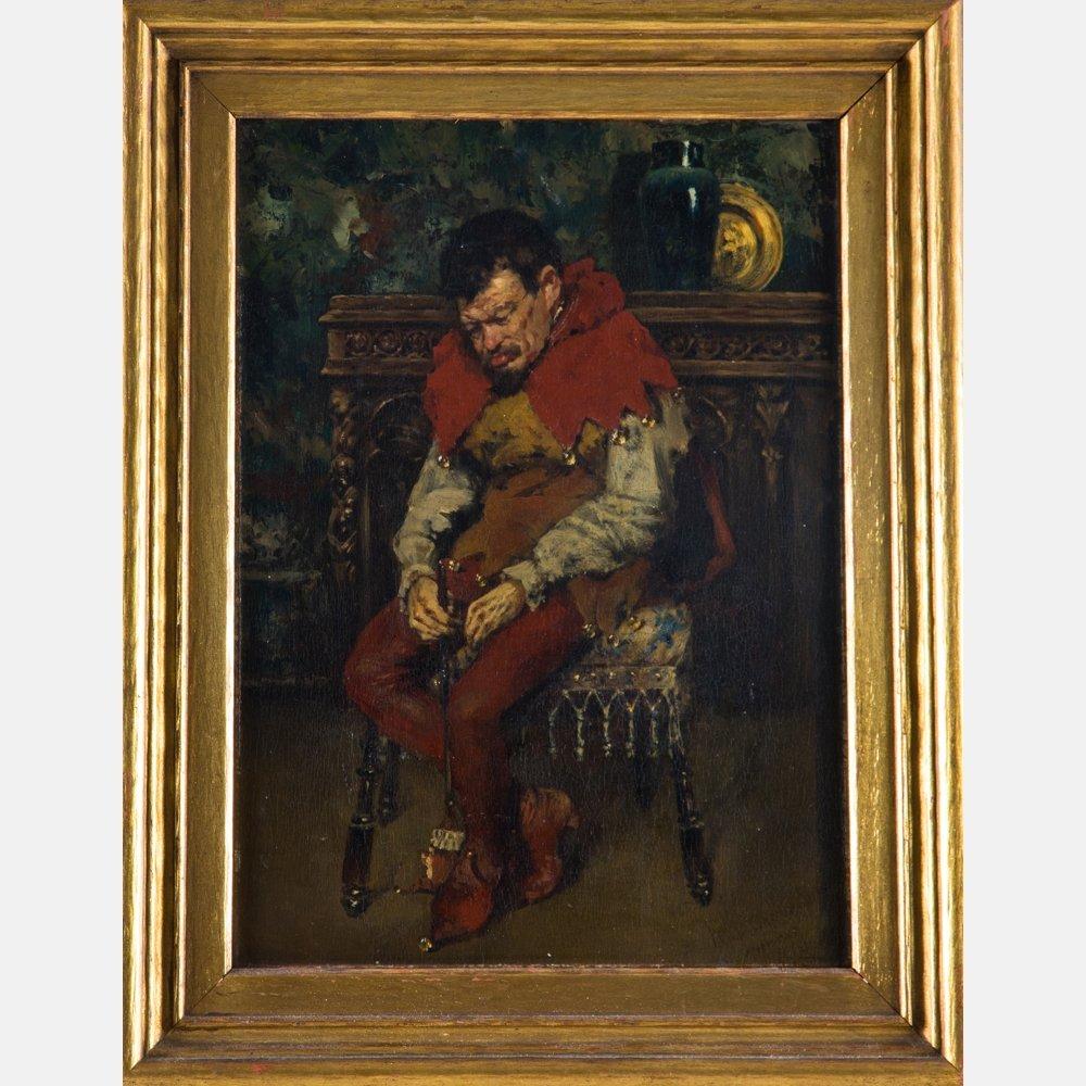 William Merritt Chase (1849-1916) Jester Resting on a