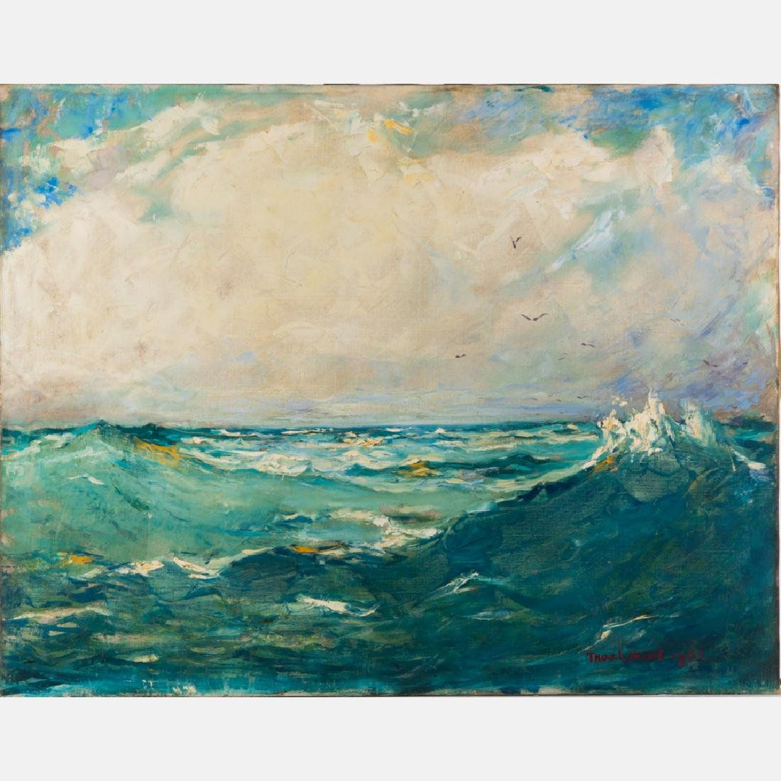 Thomas Lorraine Hunt (1882-1938) Seascape, Oil on
