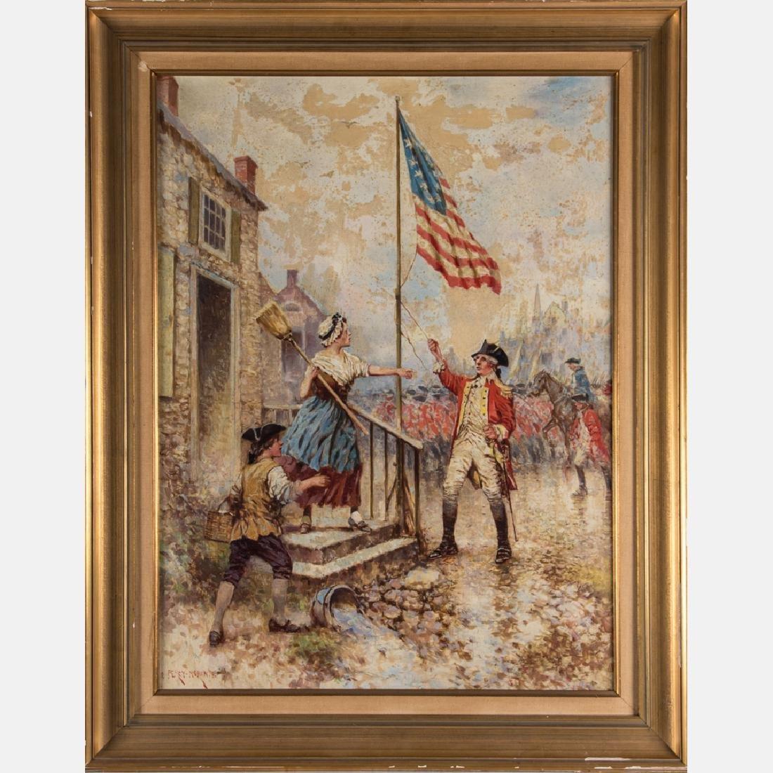 Edward Percy Moran (1862-1935) Revolutionary War Scene,