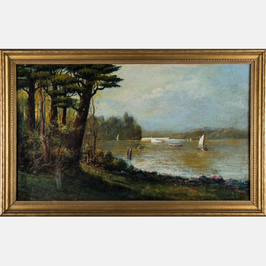 Artist Unknown (19th/20th Century) River Landscape with