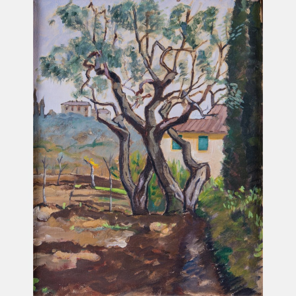 Artist Unknown (20th Century) Italian Landscape, Oil on