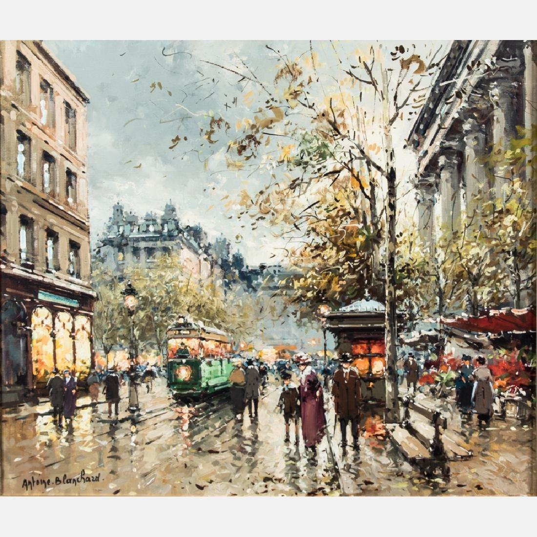 Antoine Blanchard (1910-1988) Parisian Street Scene,