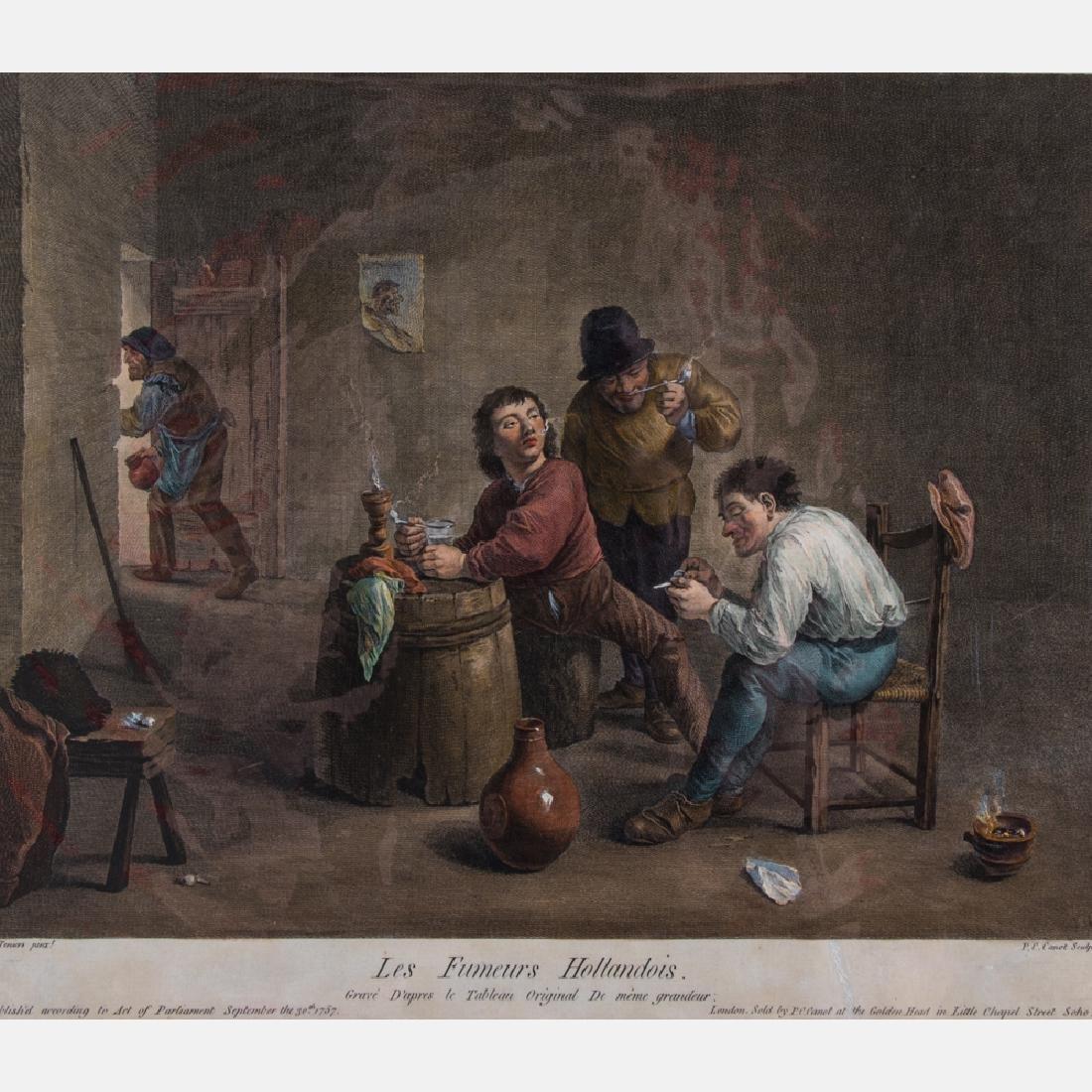 After David Teniers (1610-1690) Les Fumeurs Hollandois,