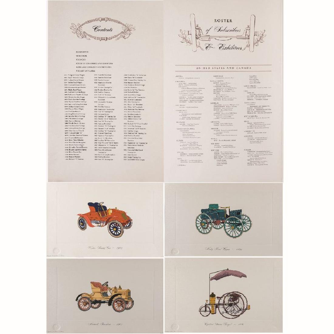 A Partial Portfolio of Colored Lithographs from the