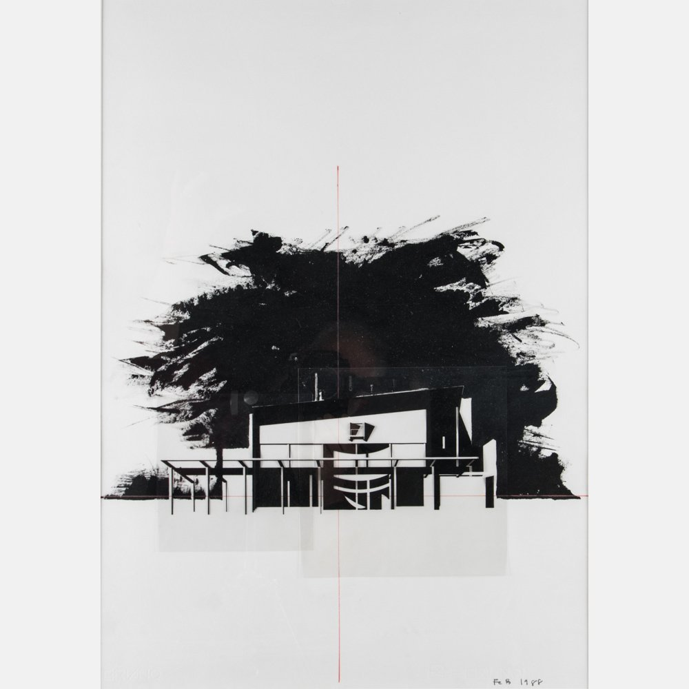 Frederick Biehle (20th Century) Untitled (Architectural